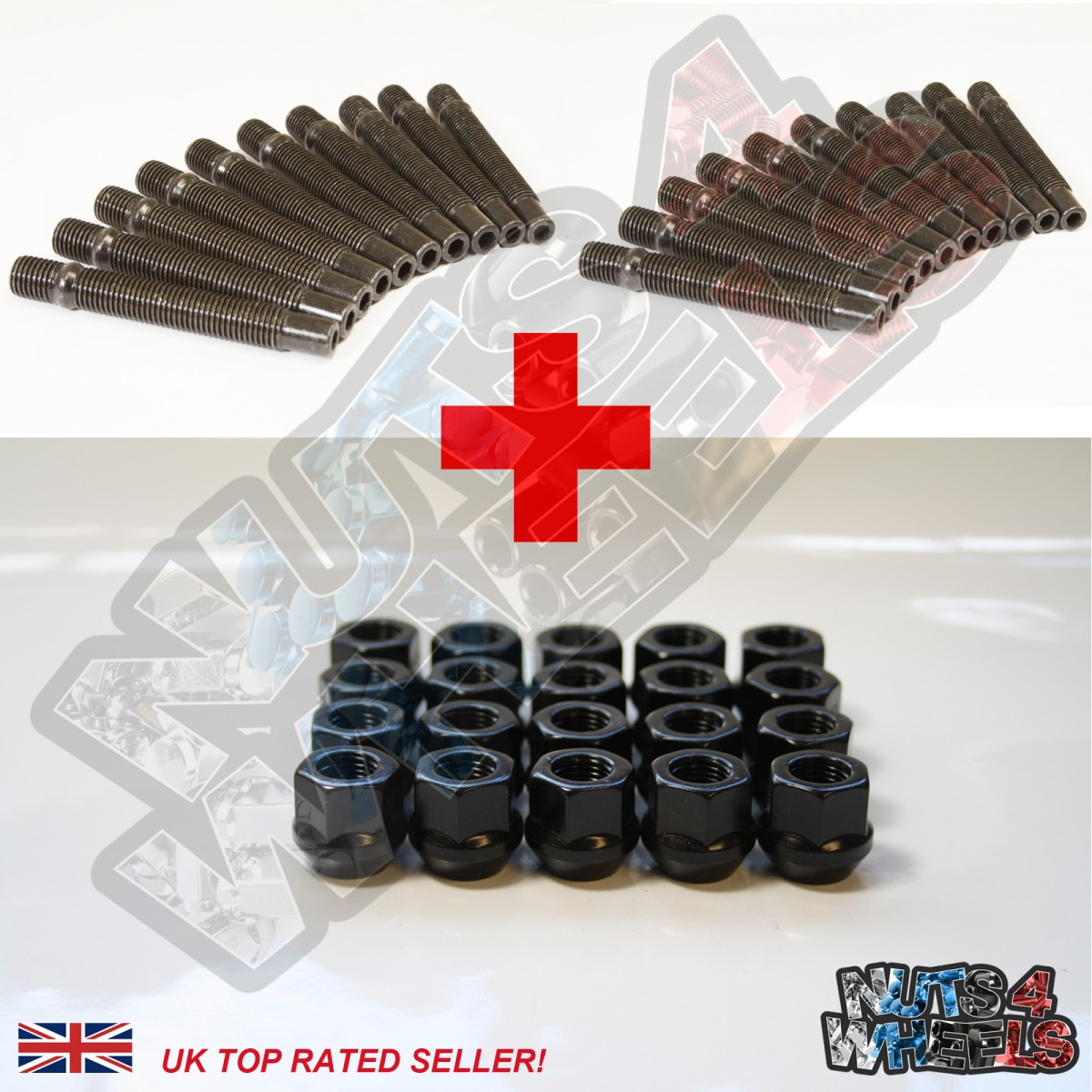 Stud Conversion Kit M14x1.5 (Open Nuts)