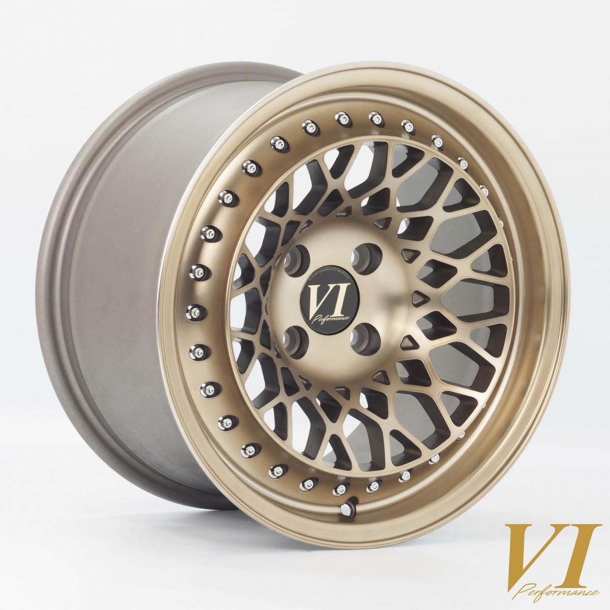 6Performance Infinity 15x8.25 4x100 ET15 Gold