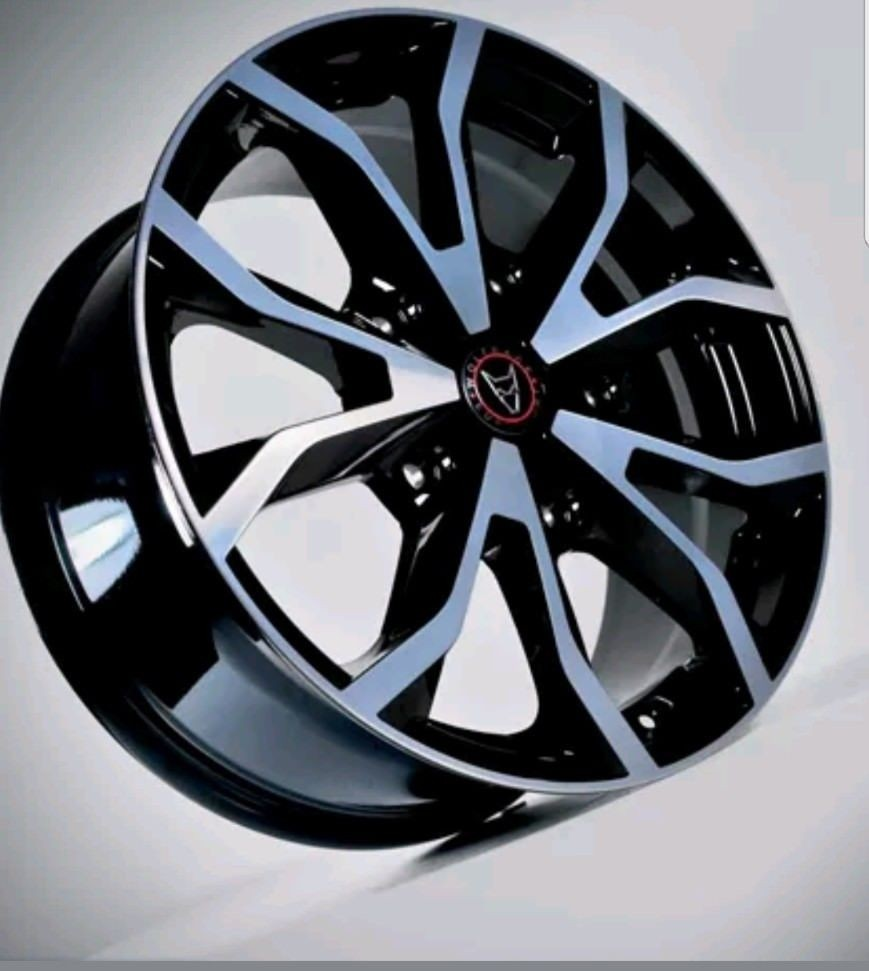 """set of 4 Wolfrace Assassin 18"""" alloys 5x160 pcd - Transit fitment load rated"""