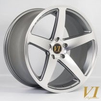 6Performance CVO 19x10.5 5x120 ET42 Gunmetal with a Polished Face