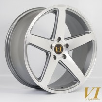 6Performance CVO 19x9.0 5x120 ET40 Gunmetal with a Polished Face