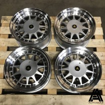 AutoStar Raider 15x7.5 4x108 ET20 Silver with Polished Lip - Set of 4