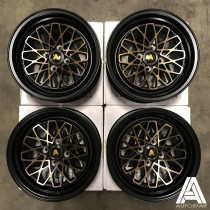 AutoStar Geo 15x8.0 4x100 ET25 Black with Bronze Face - Set of 4