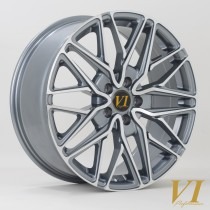 6Performance Loaded 20x8.5 5x120 ET45 Gunmetal with a Polished Face