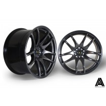 AutoStar A510 19x9.5 & 19x10.5 5x114.3 ET22 Hyper Black - Staggered set of 4