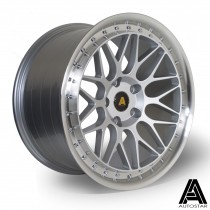 AutoStar Essen 18x8.5 ET35 & 18x9.5 ET33 5x120 Silver with Polished Lip - Staggered Set of 4