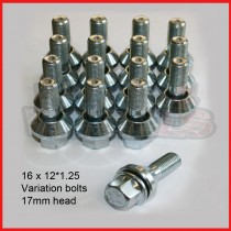 VARIATIONBOLT, HEX17, 12X1.25, ZINC, 31MM, 60d x 16