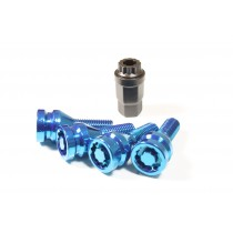 Locking Bolts M14x1.5 Blue 60 Degree Tapered Seat