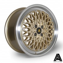 AutoStar Minus 17x8.0 4x100 ET30 Polished with Gold Centre - Set of 4