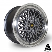 AutoStar Minus 17x8.0 4x100 ET30 Polished with Gunmetal Centre - Set of 4
