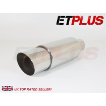 ET PLUS Performance exhaust box 89mm tip 60mm inlet