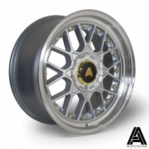 AutoStar Sprint 17x8.0 4x100 ET30 Silver with polished lip  - Set of 4