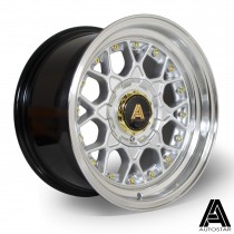 AutoStar Sprint 15x8.0 4x100 ET10 Silver with polished lip ~ Set of 4