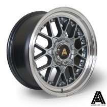 AutoStar Sprint 17x8.0 4x100 ET30 Gunmetal with polished lip  - Set of 4