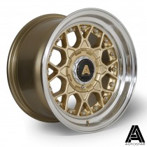 AutoStar Sprint 15x8.0 4x100 ET10 Gold with polished lip  - Set of 4