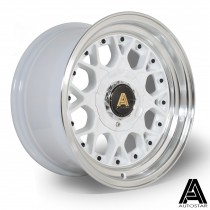 AutoStar Sprint 15x8.0 4x100 ET10 White with polished lip  - Set of 4