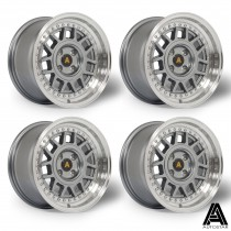 AutoStar Storm 15x8.0 4x100 ET25 Gunmetal with Polished Lip - SET OF 4