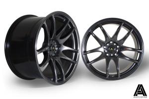 AutoStar A510 19x9.5 & 19x10.5 5x114.3 ET22 Hyper Black - Staggered set of 4