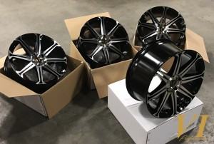 6Performance Raptor Gloss Black with Polished Face 20x9.0 5x120 ET38 - Set of 4