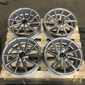 6Performance ESH Silver with Polished Face 18x8.0 5x112 ET45 - Set of 4